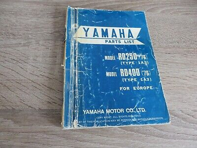 Yamaha Parts List Spare Parts Catalog RD250 1A2 RD400 1A3 ´76 | eBay