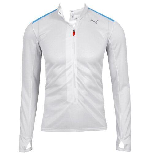Puma 1//2 Zip Warm Up Shirt Herren Laufshirt Sport Pullover Trainingsjacke weiss