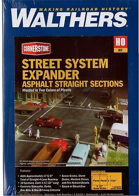HO Walthers Cornerstone 933-3194 Asphalt Street System Kit Free Shipping