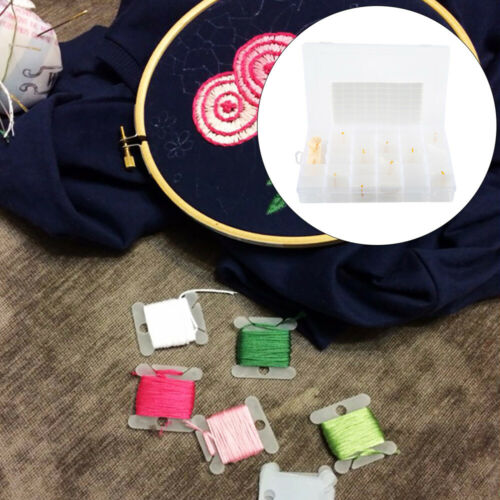 36 Grid Embroidery Box Storage Cross Stitch Thread Cards Bobbin Manual Winder