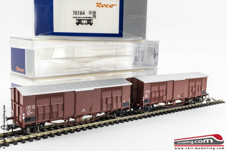 ROCO 76164 - H0 1 87 - set 2 Waggons Ware ghks Schritt lang im Dach Giebel f