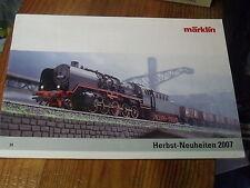 8ùµ?  Catalogue Marklin Neuheiten 2007 Nouveauté en allemand