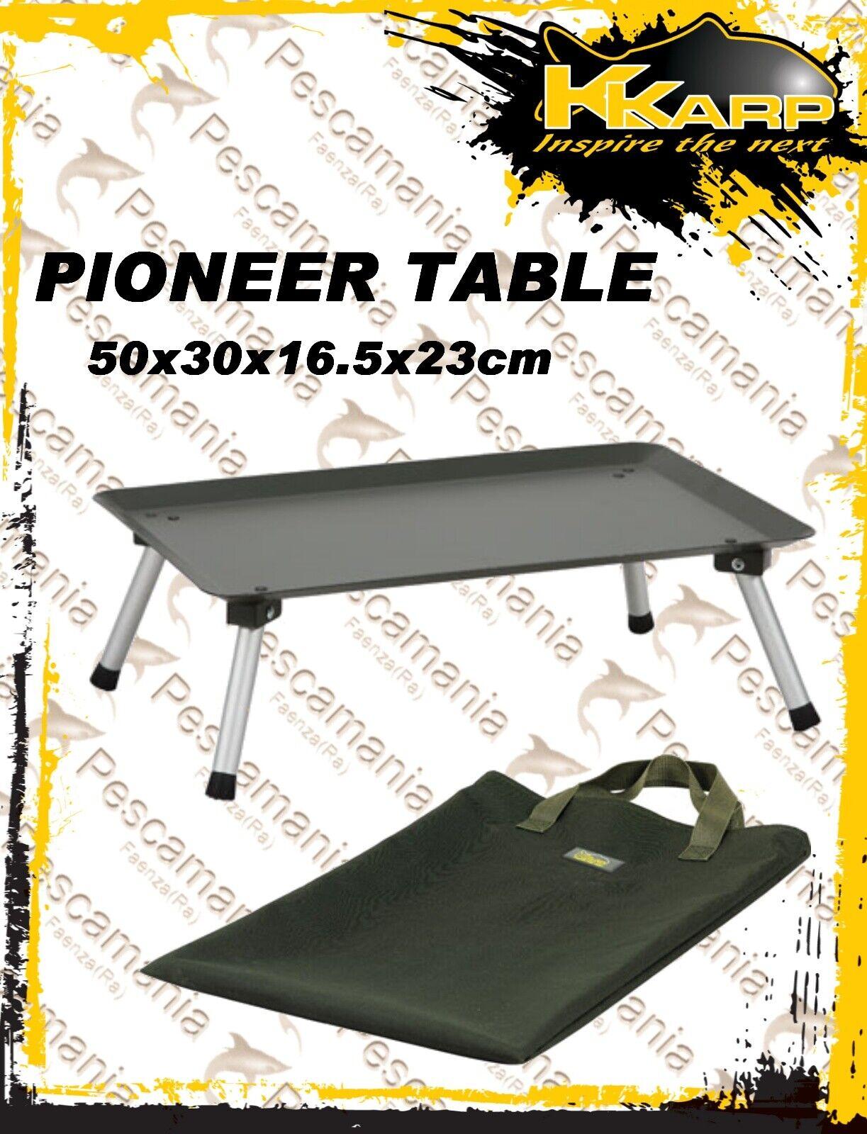 Tavolino tuttiuminio gambe regolabili KKarp Pioneer Table Wborsa XL autopfishing