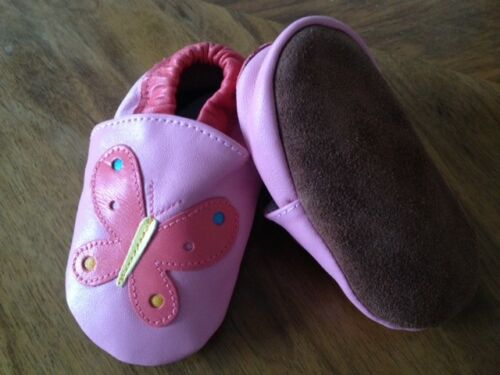 Lederpuschen Babyschuhe Tauf Puschen Ballerinas Krabbelschuhe Hausschuhe