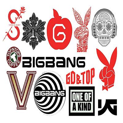 BIGBANG BIG BANG Stickers #1,1x2+10X4 Total 42 Sheet - Free Shipping, GD KPOP Y~
