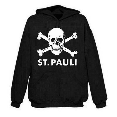 St.Pauli Ultras Skull Hoodie- Punk, Football, Rebel, Various Sizes/Colours