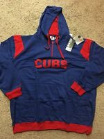 Chicago Cubs Majestic 1/4 Zip Hoodie Sweatshirt Big And Tall 4xl Msrp $75
