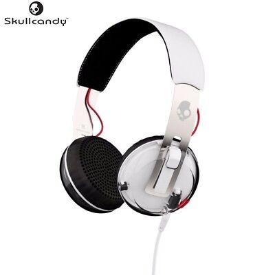 Skullcandy S5GRHT-472 WHITE Grind Headphones w/TapTech & Mic Original /Brand New