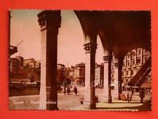 TRIESTE tram vecchia cartolina Goldoni colorata atipica BELLA!