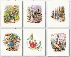 Details About Peter Rabbit Nursery Art Beatrix Potter Decor Set Of Six 8x10 Prints