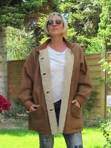 WOMENS-XXXL-XXXXL-Shearling-Lambskin-Sheepskin-Lamb-Coat-Jacket-Ladies-D2164
