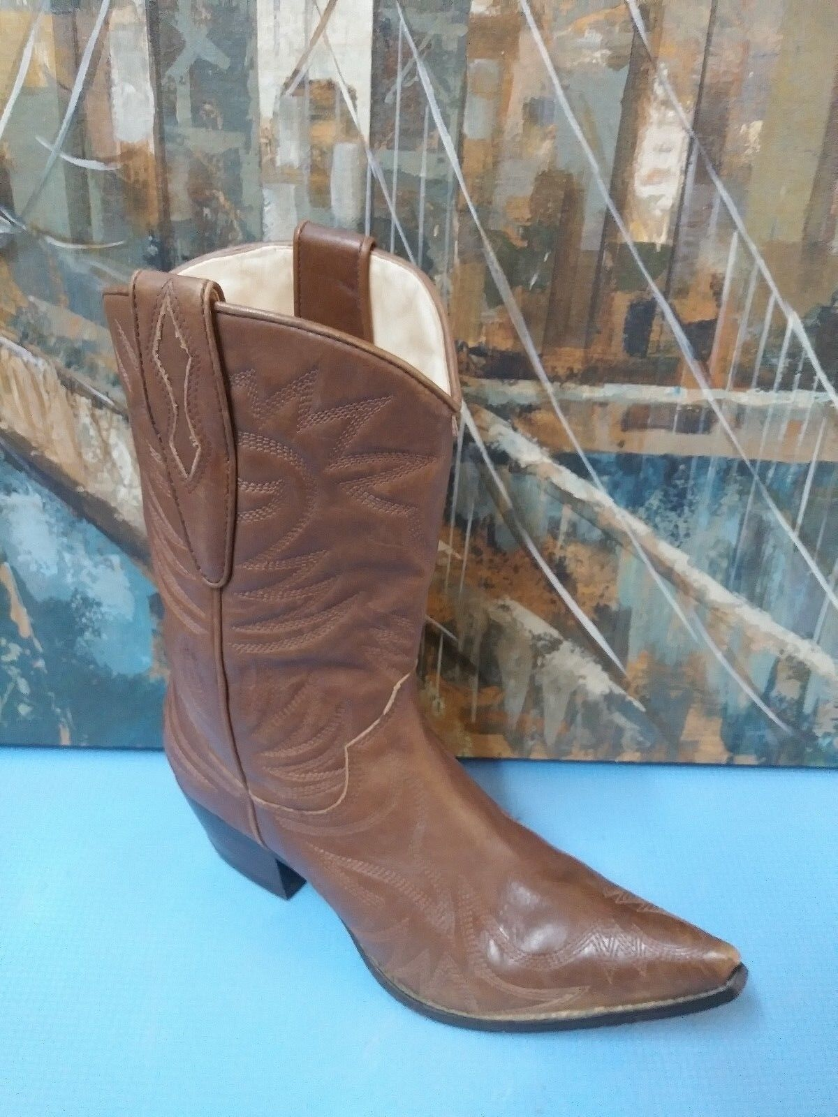 Guess Women's Brown Leather Western Cowgirl Cowgirl Cowgirl Boots Size 7 M 7de999