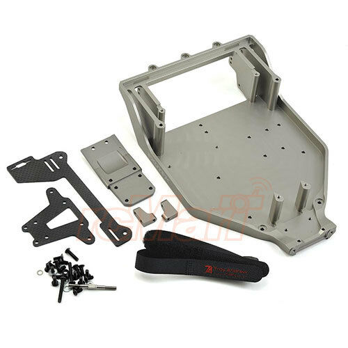Exotek Racing 7075 Aluminum HDX Chassis Set For Axial 1 10 Yeti RC Cars