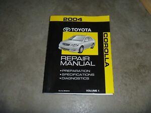 2004 Toyota Corolla Shop Service Repair Manual