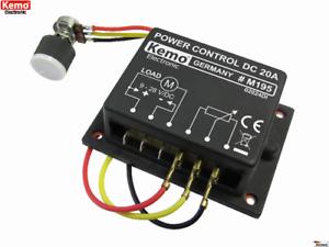 max KEMO M195 PWM Leistungsregler 9-28 V//DC 20 A Power control