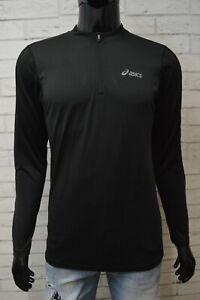 ASICS Uomo Maglia Tecnica Taglia S Maglietta Sport Slim Manica Lunga Shirt Men