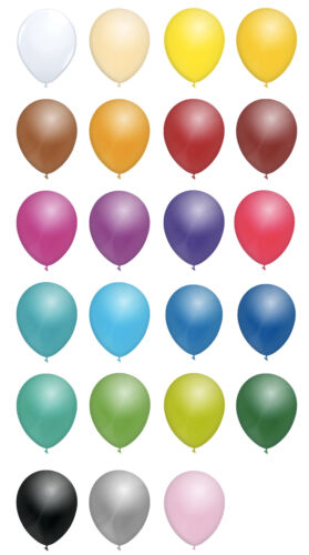 """10/'s ALL COLOURS 12/"""" INCH STANDARD LATEX BALLOONS 25/'s 50/'s or 100/'s"""