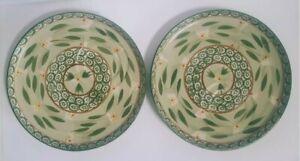 Set of 2 Temp-tations by Tara Old World GREEN Chip N Dip Plates