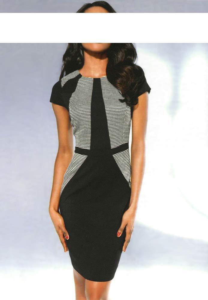 Kleid Etuikleid Heine Patricia Dini black white Hahnentritt Muster 40 42 44