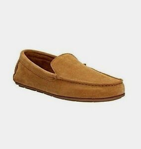 Clarks-Mens-Leather-Slippers-Tan-Loafer-Indoor-Shoes-Lounge-Carpet-Casual-Suede