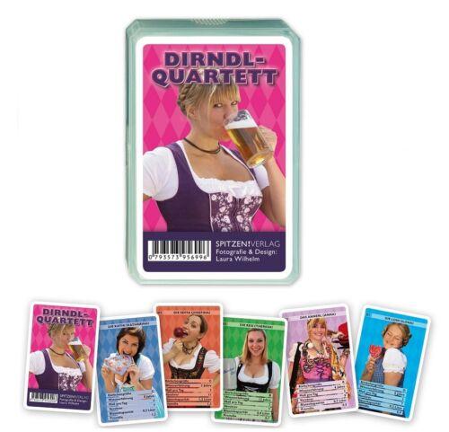 Dirndl Quartett Wiesn Oktoberfest Busen Kartenspiel