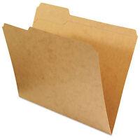 Universal Kraft File Folders 1/3 Cut Assorted Top Tab Letter Kraft 100/box 16133 on sale