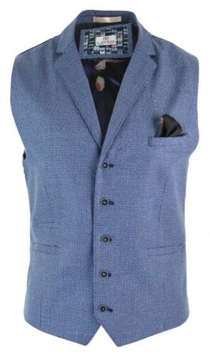 Da Uomo Smart Casual Blu Gilet Blazer venduto separatamente Tailored Fit formale
