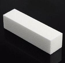 20 Pcs White Buffer Buffing Sanding Files Block Pedicure Manicure Nail Art Care