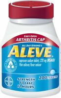 4 Pack Aleve Tablets With Easy Open Arthritis Cap, 200 Count Each on sale
