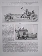Four Cylinder Napier Car At Olympia: 1908 Engineering Magazine Print