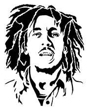 high detail airbrush stencil bob marley eight FREE UK  POSTAGE