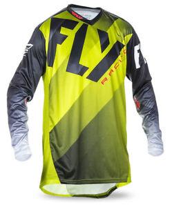 Lime//Black//White ALL SIZES! FLY RACING MX MTB BMX LITE HYDROGEN Jersey