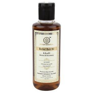 Khadi-Natural-Herbal-Ayurvedic-Rosemary-and-Henna-Hair-Oil-210-ml