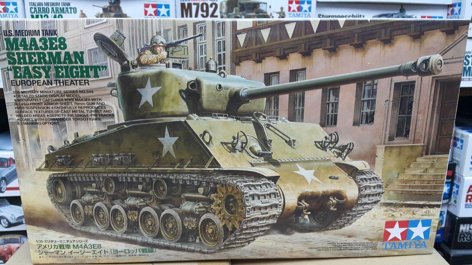 Tamiya 1 35 U.S. M4A3E8 Sherman Easy Eight European Theater Model Tank Kit 35346