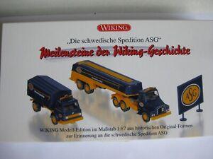 """WIKING Leerverpackung """" Die schwedische Spedition ASG """" H0 1:87 - OVP - Lahstedt, Deutschland - WIKING Leerverpackung """" Die schwedische Spedition ASG """" H0 1:87 - OVP - Lahstedt, Deutschland"""