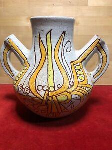 Large-Vase-Ceramic-Accolay-Africanist-Ethnic-the-60-70-039-Vintage