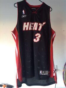 4cfc9e0f6 Miami Heat Reebok NBA Jersey - Men s Size XL -  3 Dwayne Wade ...