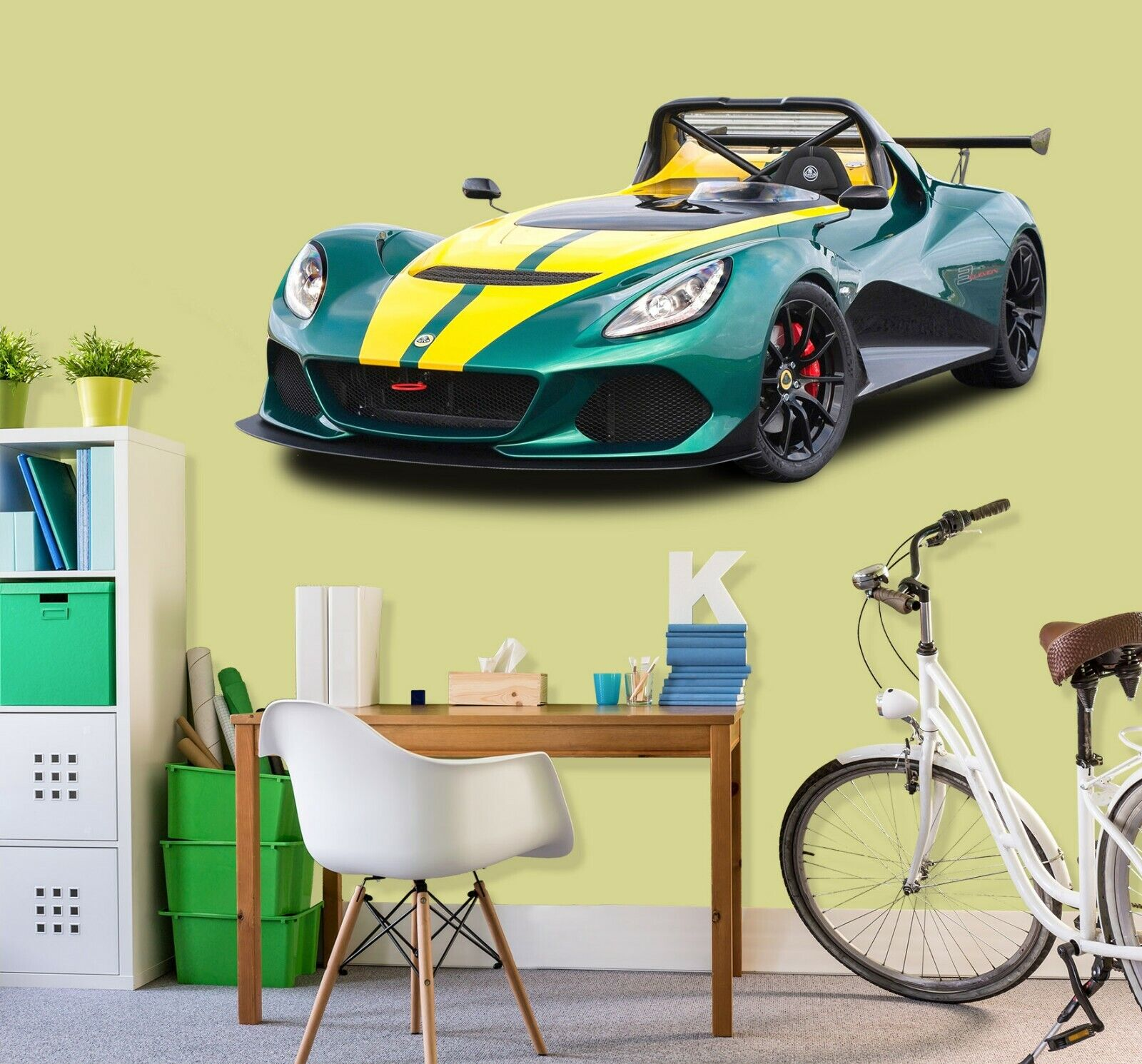 3D Lotus N82 Car Wallpaper Mural Poster Transport Wall Stickers Amy