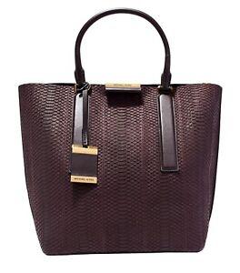 8936cddd67ba Michael Kors Collection Bag  Bag Lexi Sueded Snake Large Tote Bag ...