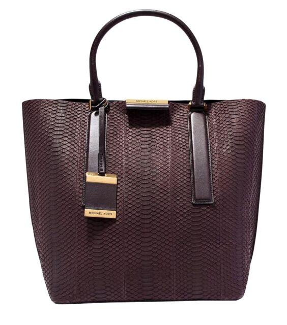 7beb66057ca0 Michael Kors Collection Bag Lexi Sueded Snake LG Tote Bag Python for ...
