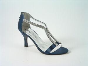 Diamante wedding shoes Ladies Navy