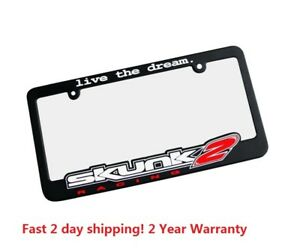 Skunk2 License Plate Frame Go Faster 100/% Genuine