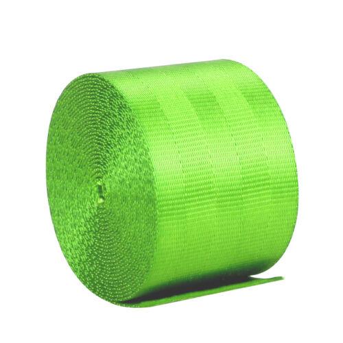 3.6M Polyeste Rennwagen Vorderseite Auto 3 Punkt Sicherheitsgurt Einziehbar grün
