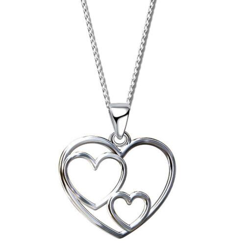 BOX HERZ Anhänger Kette Halskette 925 Echt Silber für Kinder Damen Geschenkidee