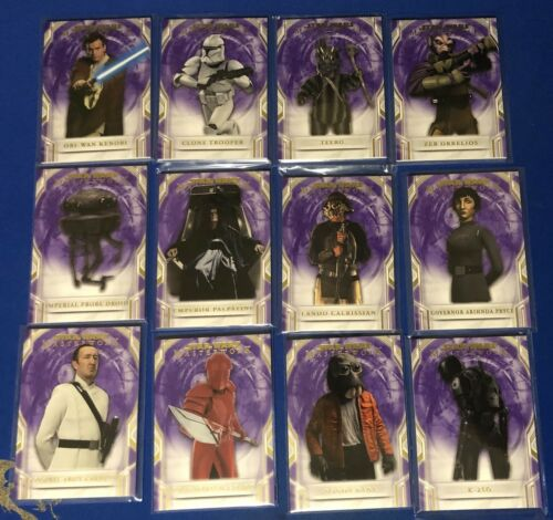 """2018 Topps Star Wars Masterworks Purple Parallels //50 Singles /""""Choose Your Card/"""""""