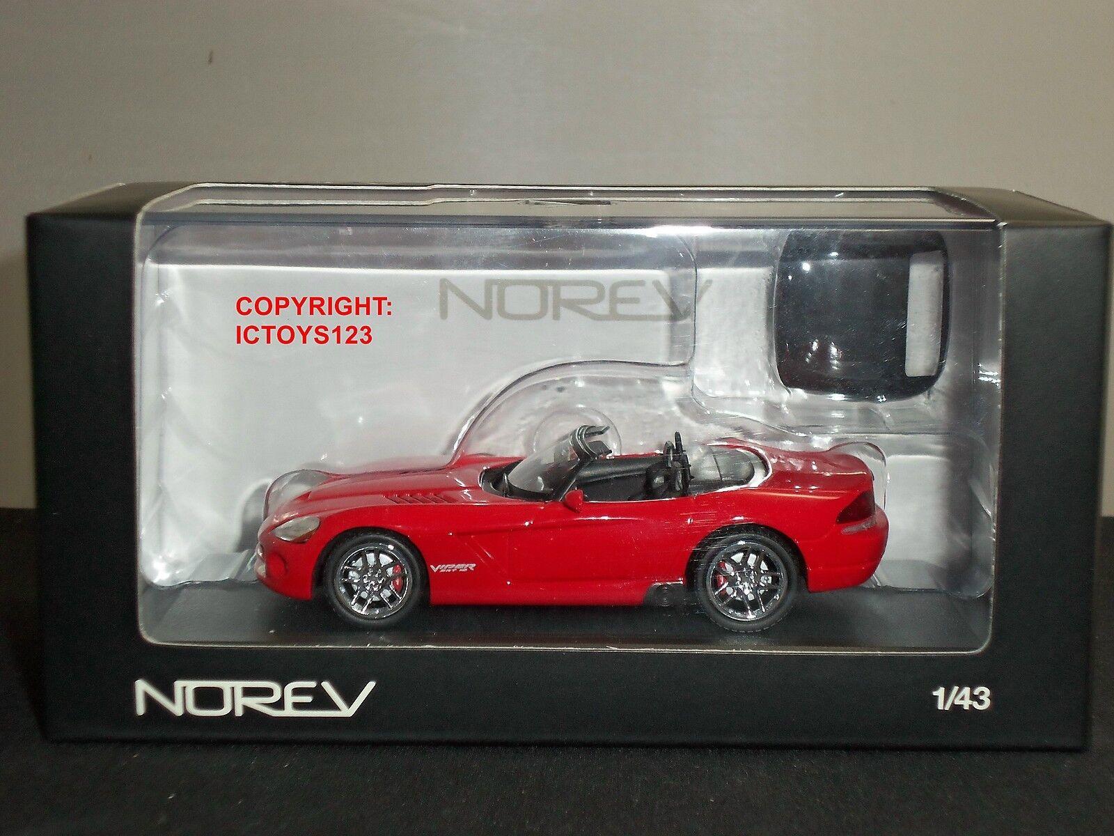 Norev 950025 Dodge Viper SRT10 Converdeible rojo Coche Modelo Diecast