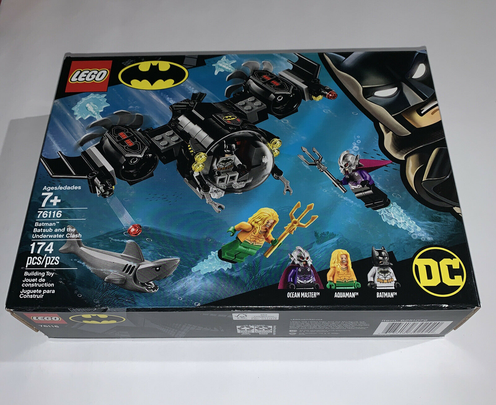 LEGO 76116 Batsub with Instructions /& Stickers **NO BOX OR MINIFIGURES**