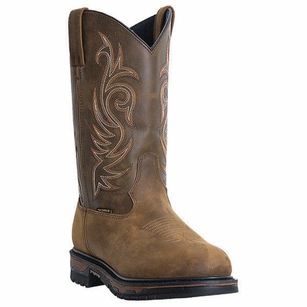 Laredo 68112  Uomo Hammer Tan Distressed Leather Foot Foot Foot Waterproof Western avvio 985500