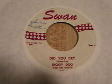 "Dickey Doo & The Don'ts ""Did YouCry""/""Click Clack"" on Swan Record Free Ship USA"