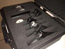 """18"""" Tactical 10 Gun Handgun Pistol Weatherproof Hard Shell Carry Case Glock Colt"""